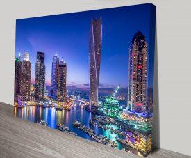 Dubai Marina Skyline Print on Canvas