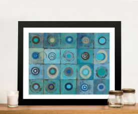 Underwater Mosaic Crop Abstract Artwork Print