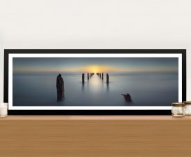 Panoramic Abandoned Jetty Photo Wall Art Canvas Print Australia
