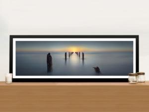 Panoramic Abandoned Jetty Photo Wall Art Canvas Print Australia