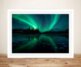 Aurora Borealis Northern Lights Iceland Photographic Art Print