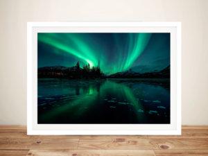 Aurora Borealis Northern Lights Iceland Photographic Art Print
