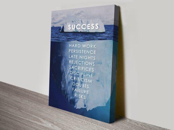 Success Iceberg Quote Canvas Print