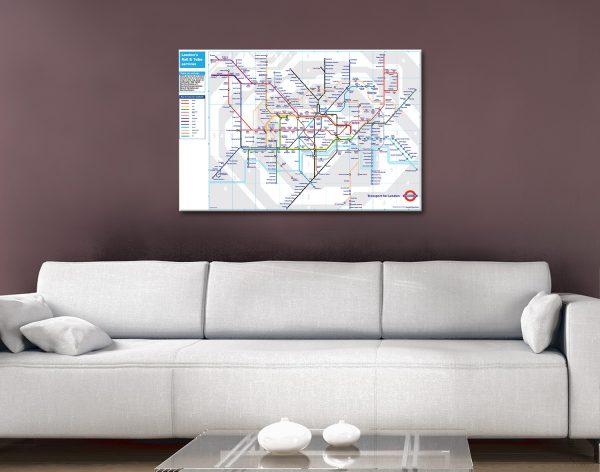 London Tube Map Art
