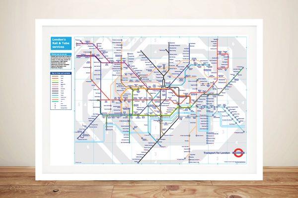 Buy London Underground Map Framed Wall Art