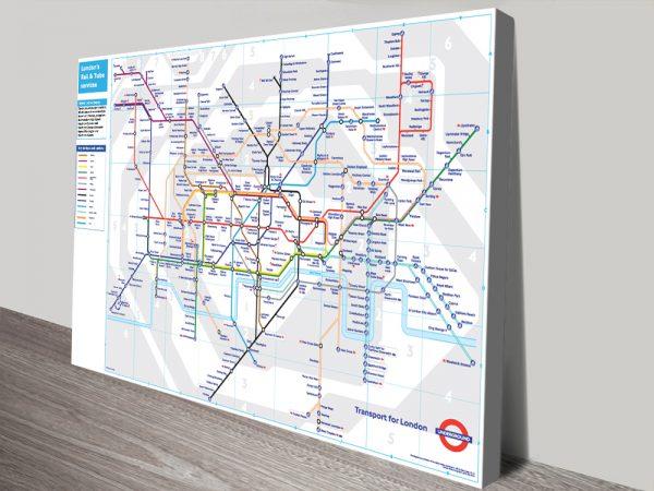 London underground tube map canvas print