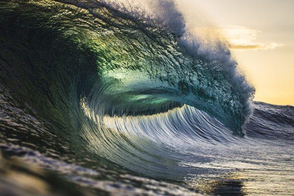 Colourful Ocean Power Surf Art