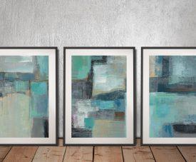 Buy a Sea Foam Triptych Set by Silvia Vassileva