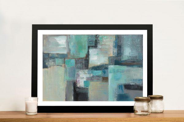 Seafoam Abstract Silvia Vassileva Framed Art Print