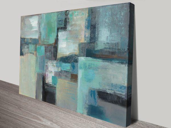 Seafoam Abstract Silvia Vassileva Canvas Art Print