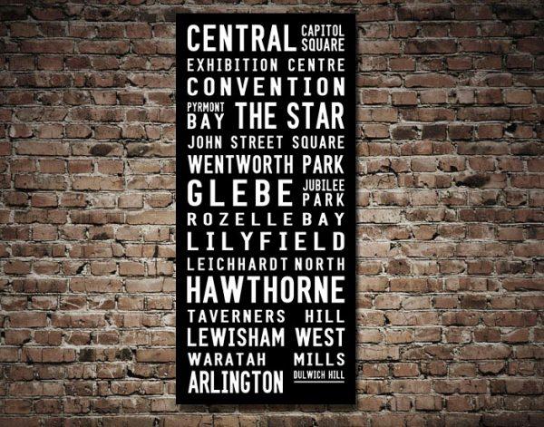 Dulwich Hill Tram Banner Destination Scroll Art