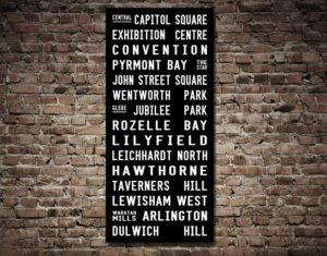 Dulwich Hill Line Tram Scroll