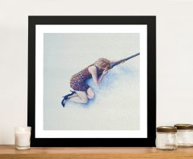 Snow Sniper by Iris Scott Framed Wall Art