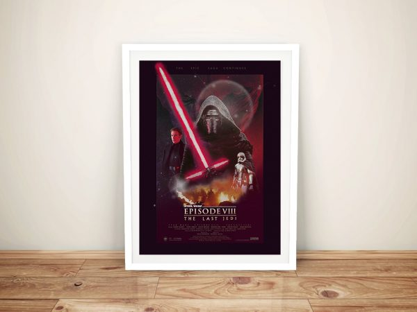 The Last Jedi Poster Framed Wall Art