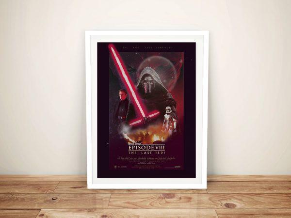 The Last Jedi Poster Framed Wall Art