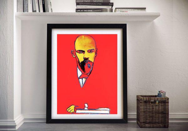 Warhol Red Lenin Framed Picture