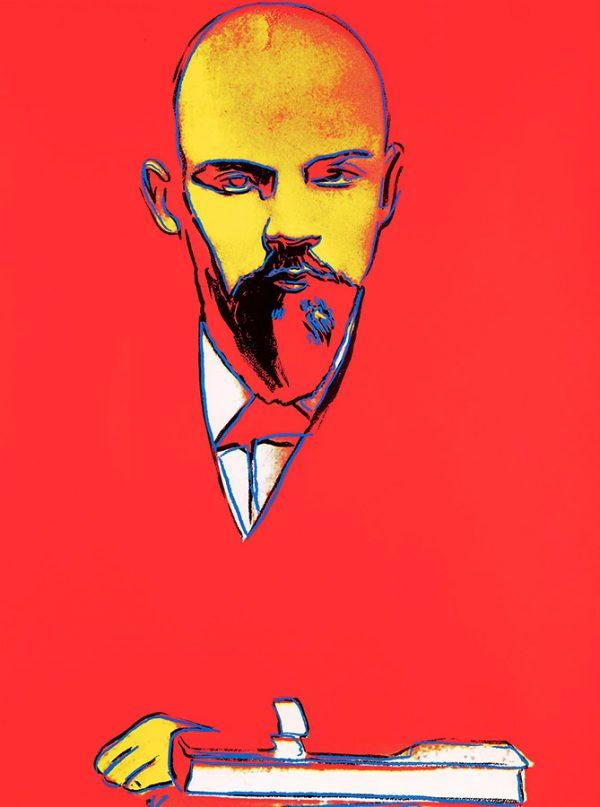 Andy Warhol Red Lenin Communist Warhol Pop Art