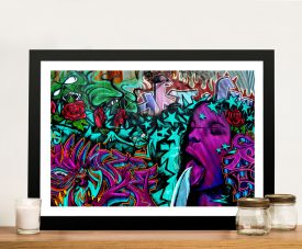 Bejewelled Graffiti Framed Wall Art