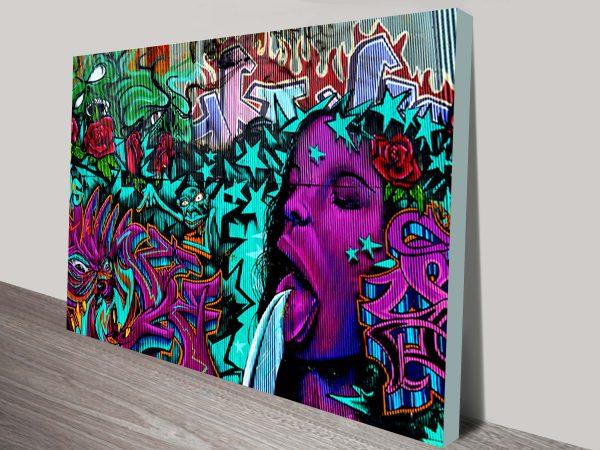 Bejewelled Graffiti Canvas Street Art