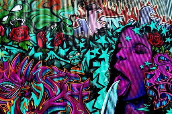 Bejewelled Graffiti Canvas Art