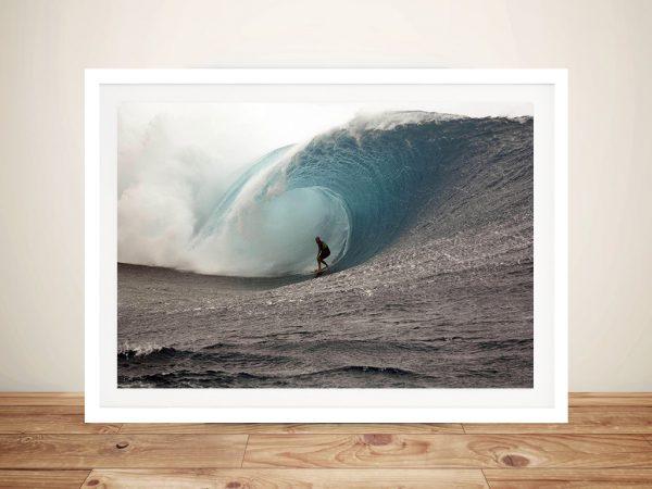 Big wave Framed Wall Art