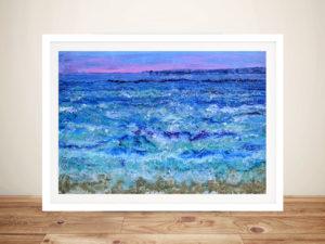 Blue Ocean Painting Print Framed Wall Art