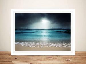 Moody skies Ocean Framed Wall Art