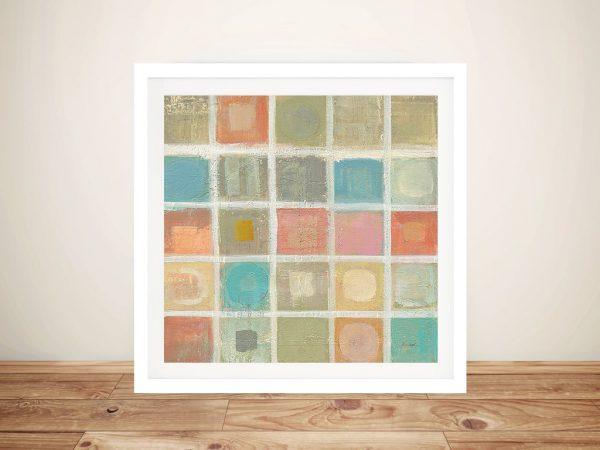 Sea Glass Mosaic Tile I Silvia Vassileva Abstract Picture Print