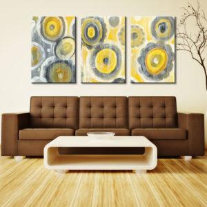 Abstract Circles Triptych Danhui Nai Wall Art Print