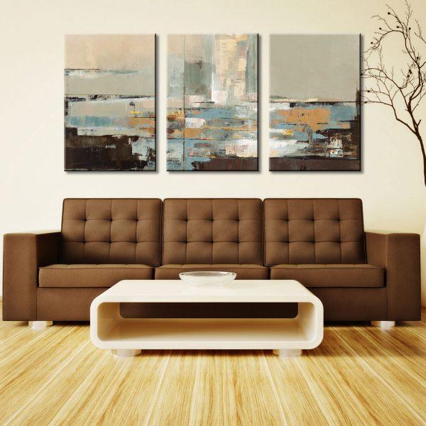 Morning Haze Triptych Silvia Vassileva Canvas Wall Print Art