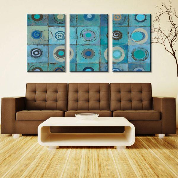 Underwater Mosaic Triptych Silvia Vassileva Wall Art Print Australia