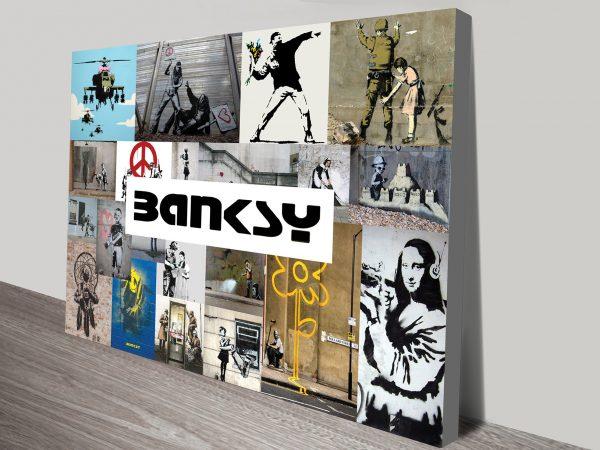 Banksy Collage Canvas print Perth