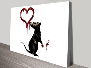 Banksy Rat Art Print Framed Pictures