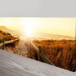 Sunset Beach Pathway Panoramic Photo Wall Art