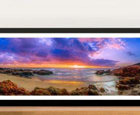 Sunset Bay Panoramic Art Picture Brisbane