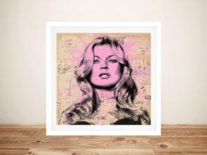 Kate Moss Mr Brainwash Framed Wall Art Australia