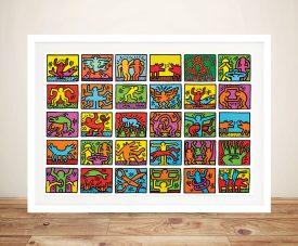 Keith Haring Art Framed Wall Art Print
