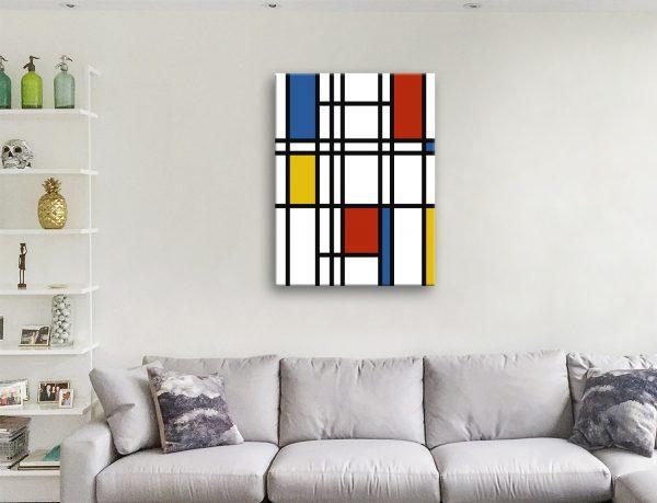 Mondrian Art Canvas Prints