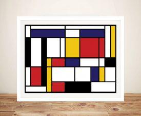 Mondrian Tableau Framed Wall Art