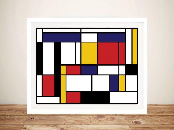 Mondrian Tableau Framed Wall Art Australia