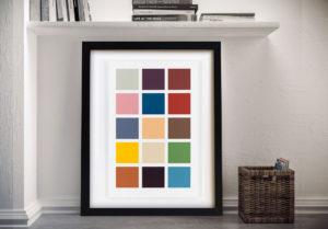 Richter Richter Fifteen Colours Framed Art Print Australia