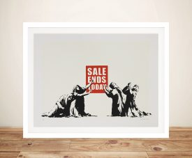 Banksy Sale ends today Framed Wall Print