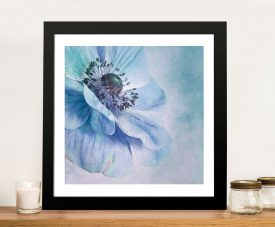 Shades of Blue Framed Wall Picture Art