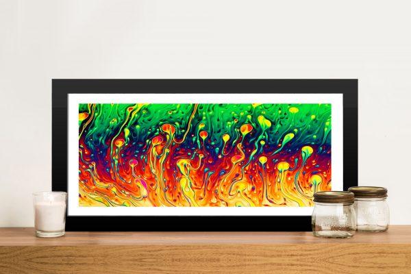 Soap Opera Abstract Panoramic Photo Framed Wall Art