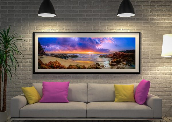 Sunset Bay Beach Wall Picture Australia