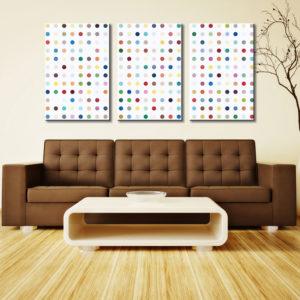 Damien Hirst Xylosidase 3 Panel Split Canvas Photo Wall Art