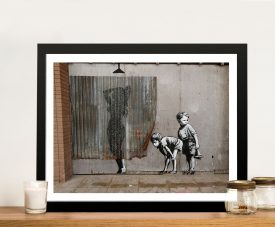 Buy Peeking Kids Banksy Framed Wall Artwork