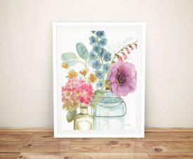 Rainbow Seeds Flowers VIII Danhui Nai Framed Wall Art