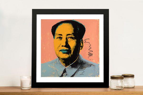 Andy Warhol Mao Tse Tung Wall Art Print of the Original Painting