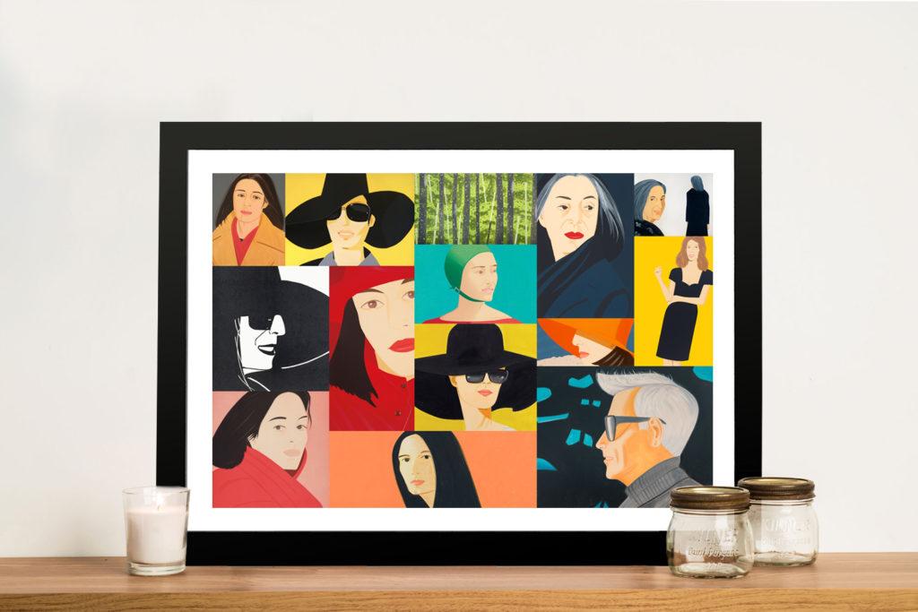 Alex Katz Collage Canvas Pop Art Picture Prints Melbourne